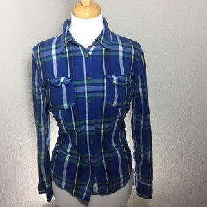 Aeropostale Plaid Button Down cotton shirt L